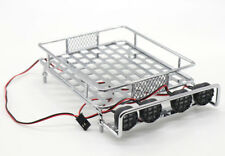 RC 1:10 Roof Luggage Rack LED Light Bar Wrangler Tamiya CC01 SCX10 Axial 515S