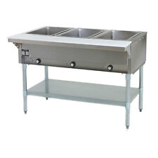 Eagle Group Dht3-120, 48 inch Electric Steam Table, Open Well 3 Compartments
