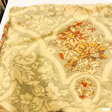 2 Pottery Barn Linen Blend Floral Damask Medallion Standard Pillow Shams Case