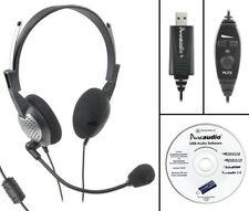 Voice Recognition USB Headset with Noise Cancelling Microphone for Nuance Dragon