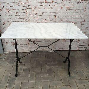 Bistrotisch Outdoor Gastro mit Marmor und Gusseisen Tisch 100cm x 60cm  NEU