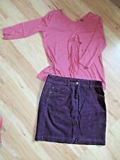 Tom Tailor Set  ~  Rock / Cordrock + Bluse / Shirt  ~  Gr. 38  ~  kaum getragen