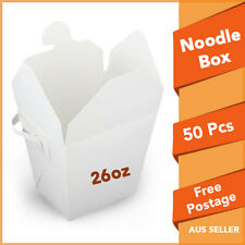 Noodle Boxes White Cardboard 26 Oz 50pc Large Chinese Food Party Noodle Box Bulk