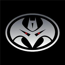TRANSFORMERS MEGATRON decal stickers 6 x4.25 inch Chrome and Red vinyl