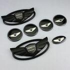 USA Seller Hyundai Genesis Coupe Matte Black WING Logo Emblem Sport Set 7pcs