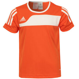 Adidas Mens Orange Fitted Lightweight Football Top And Shorts Size 3XS P49166