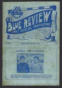 Malta Football Booklet Sliema Blue Review March 1964 No 105 Malta vs Italy C etc