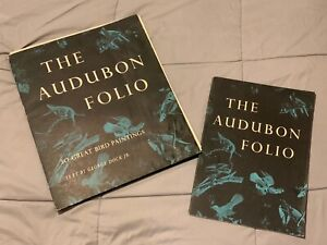 The Audubon Folio 26 Great Bird Paintings w/ Book by George Dock 1964 Full Color