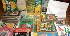 Huge Vintage 50 Children's Books Lot Little Golden Whitman Tell-A-Tale Disney!
