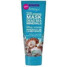 Freeman Feeling Beautiful Facial Anti-Stress Mask Dead Sea 6 oz + Makeup Sponge