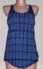 Michael Kors Super Cute Shades of Blue Tie Dye Racer Back Tank Top-Size S
