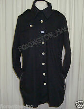 BEAUTIFUL SASS&BIDE BLACK TRENCHCOAT W'Mirror buttons 44/8 (AUS 14)
