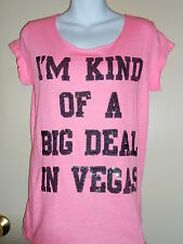 Victoria's Secret Pink Bling Sequin I'm Kind Of A Big Deal In Vegas Pink S NWT
