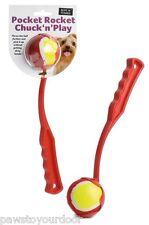 Jouet chien balle lanceur Balle de tennis lanceur pocket rocket 1 x balle inclus jeter