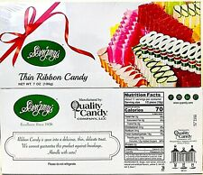 2 Boxes Sevigny's 7 Oz Thin Ribbon Candy A Delicious Delicate Treat BB 9/16/2022