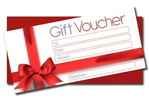 Chistmas Blank Gift Certificate Money Vouchers  Different Designs + Envelopes