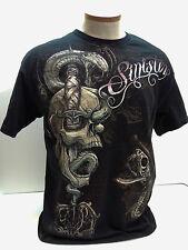 "SINISTER Brand Skulls & Dagger T-Shirt UFC MMA Anderson ""Spider"" Silva Size L"