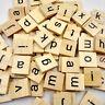 100* Holz Alphabet Spielsteine Scrabble Buchstaben Puzzle Spielzeug Brettspiel