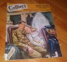 Collier's Magazine Nov 19,1945 WWII Issue *Golden Octopus, Returning Vets Cover*