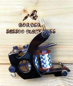 """COLOUR-PACKER"" (BLACK-NICKEL-PLATED) BORDER TATTOO MACHINE,CUSTOM IRON FRAME"