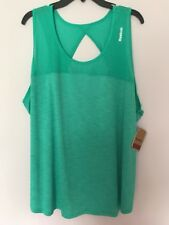 Reebok Womens Logo Performance Sleeveless Shirt Top Size 3X NWT Green