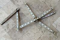 Vintage Lufkin X46 Folding Wood Rule Slide Red End Extension Ruler