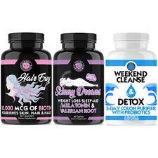 Biotin + Keratin 10,000 mcg Hair Envy, Skinny Dreams + Weekend Cleanse 3-Pack