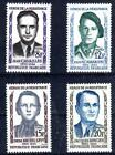 FRANCE 1958 TIMBRE N° 1157 à 1160 PERSONNAGES CELEBRES HEROS DE LA RESISTANCE **