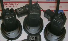 Motorola Lot of 3 Vhf Cp150 Handie Talkie Portable 2 Way Radios On 4 Same Chan's