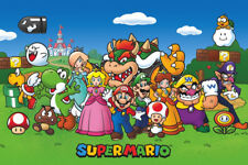 2014 NINTENDO SUPER MARIO GROUP ON LAWN POSTER 36X24 NEW FREE SHIPPING