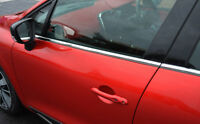 Chrome Side Door Window Sill Trim Set Covers To Fit Renault Clio IV (2012+)