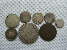 Lot of 8 Vintage Love Token Coins Some Silver