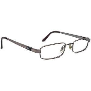 Ray-Ban Men's Eyeglasses RB 6076 2553 Silver Rectangular Metal Frame 49[]19 135