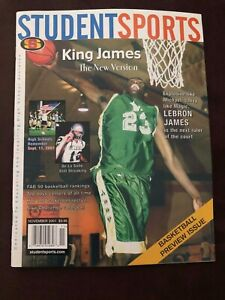 """Rare 2001 Student Sports Magazine LeBron """"King James"""" First-Ever Cover - NM!"""