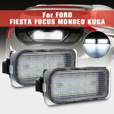 2x Luce Targa 18 Led Bianco No Error Per Ford Fiesta Focus C-Max Kuga Mondeo