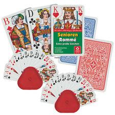 2 Senioren Romme Club Kartenspiele Set mit 4 Kartenhalter, Spiele von Frobis