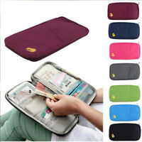 Travel Bag Wallet Purse Document Organiser Zipped Passport Tickets ID Holder Bag
