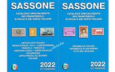SASSONE SPECIALIZZATO VOLUME 1 E VOLUME 2 2022 CATALOGH PER FRANCOBOLLI ITALIANI