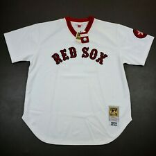 100% Authentic Jim Rice Mitchell Ness 1975 Red Sox Jersey Size 52 2XL Mens