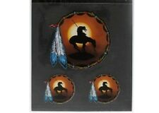 #26 - END OF THE TRAIL Native American Helmet / Tank 3 sticker pack (1001) Decal