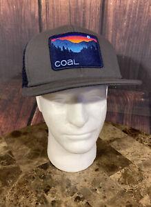 Coal Headwear THE HAULER Hat Unisex Adjustable Snapback Gray Navy NWOT