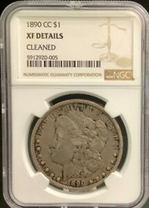 NGC 1890-CC MORGEN SILVER DOLLAR XF DETAILS CLEANED ????