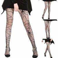 Women Spider Web Net Pantyhose Stockings Fishnet Adult Halloween Costume Hosiery