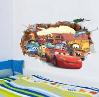 NEW Disney Cartoon lightning McQueen Cars HUGE Wall Stickers Kids Home Decor USA
