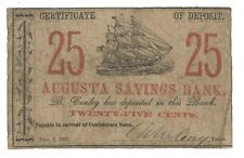 Augusta Savings Bank 25Cents - Obsolete