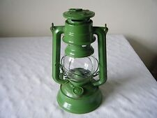 VINTAGE MEVA 864 GREEN TILLEY STORM LAMP 25cm TALL NO WICK