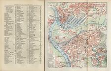 Landkarte city map 1910: Stadtplan: DUISBURG. Umgebung. Rhein-Land Rurpott Stahl