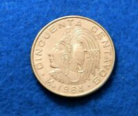 1964 Mexico 50 Centavos - Beautiful Coin - Full Luster