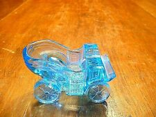 Antique 1900's EAPG Carriage / Auto Ashtray Made by Central Glass Co.