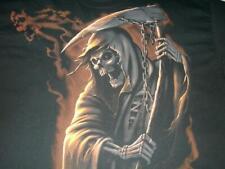 Grimm Reaper Death Scythe Halloween Goth Fruit Loom Black T-shirt Men's XL used